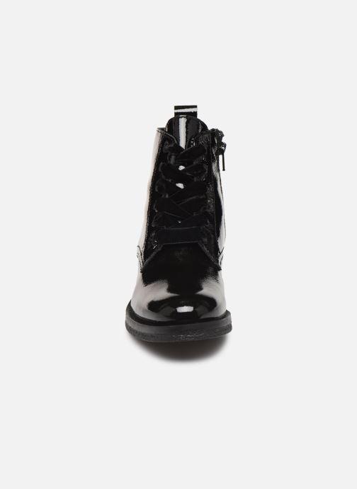 Bottines et boots Bianco BIATINE PATENT LACED UP BOOT 26-49887 Noir vue portées chaussures
