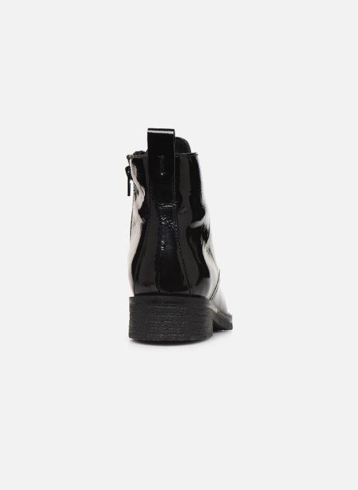 Bottines et boots Bianco BIATINE PATENT LACED UP BOOT 26-49887 Noir vue droite