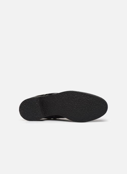 Bottines et boots Bianco BIATINE PATENT LACED UP BOOT 26-49887 Noir vue haut