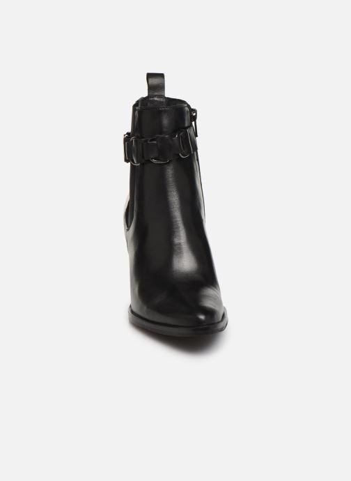 Bottines et boots Bianco BIAJUDIA LEATHER BELT BOOT 26-50204 Noir vue portées chaussures