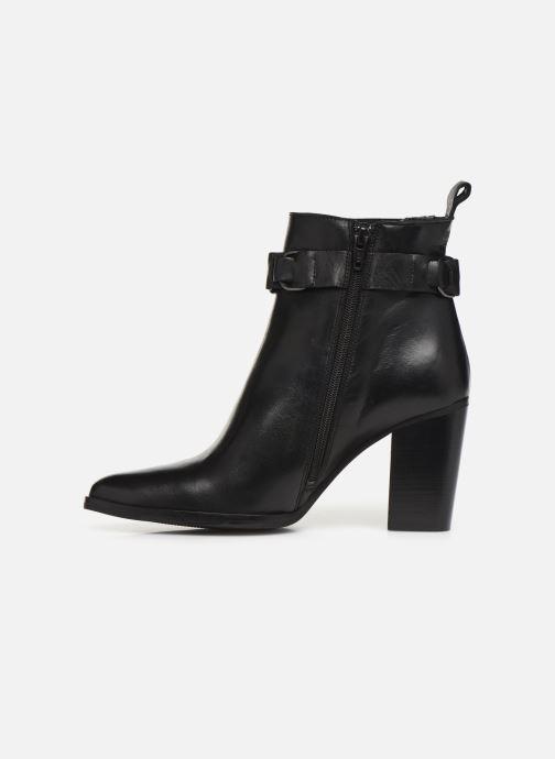 Bottines et boots Bianco BIAJUDIA LEATHER BELT BOOT 26-50204 Noir vue face