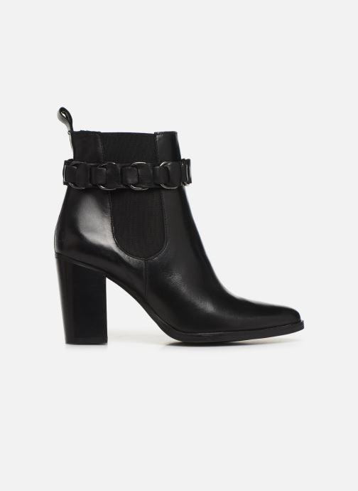 Bottines et boots Bianco BIAJUDIA LEATHER BELT BOOT 26-50204 Noir vue derrière