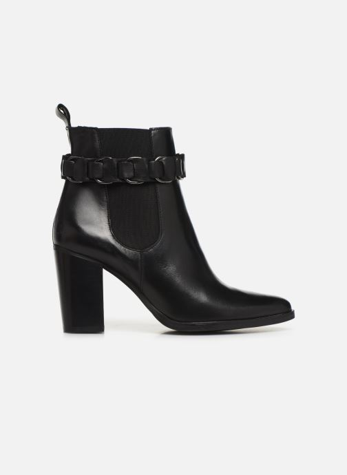 Bottines et boots Bianco BIAJUDIA LEATHER BELT BOOT 26-50204 Noir vue derrière
