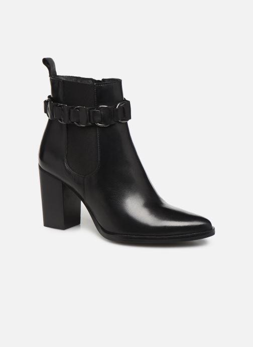 Bottines et boots Bianco BIAJUDIA LEATHER BELT BOOT 26-50204 Noir vue détail/paire