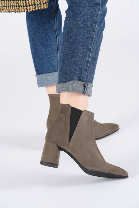 Bottines et boots Bianco BIACHERISE SUEDE BOOT 26-50207 Gris vue bas / vue portée sac