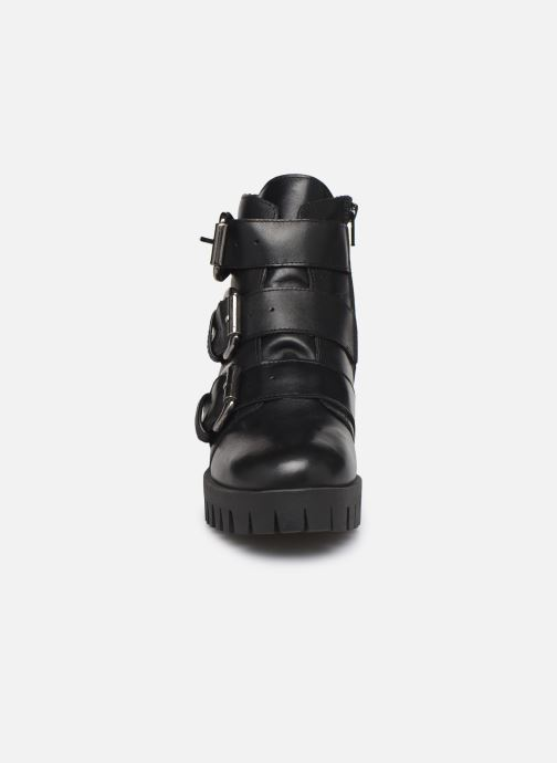 Bottines et boots Bianco BIACECILE TRIPLE BUCKLE BOOT 26-50219 Noir vue portées chaussures