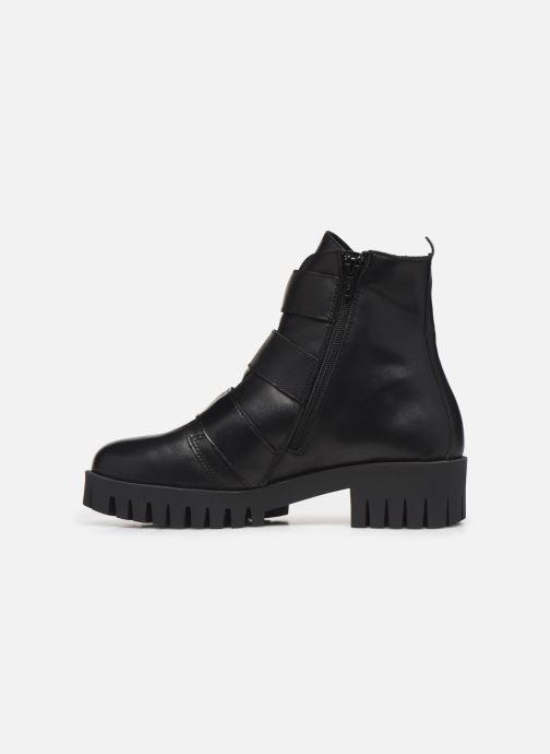 Bottines et boots Bianco BIACECILE TRIPLE BUCKLE BOOT 26-50219 Noir vue face