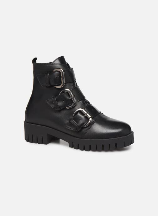 Bottines et boots Bianco BIACECILE TRIPLE BUCKLE BOOT 26-50219 Noir vue détail/paire