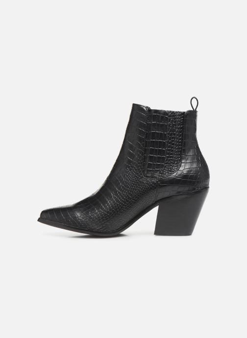 Ankle boots Bianco BIACLEMETIS WESTERN CHELSEA 26-50261 Black front view