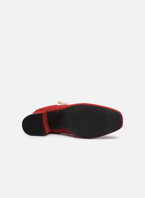 Botines  Bianco BIACEIL SUEDE ZIP BOOT 26-50278 Rojo vista de arriba