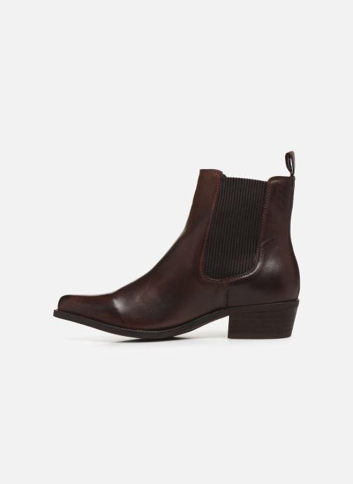 Bottines et boots Bianco BIACOCO CHELSEA WESTERN 26-50302 Marron vue face