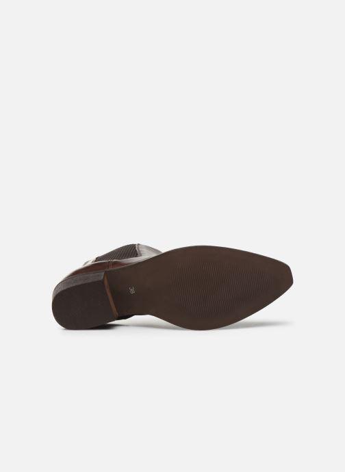 Bottines et boots Bianco BIACOCO CHELSEA WESTERN 26-50302 Marron vue haut