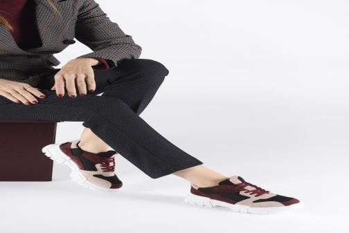 Trainers Bianco BIACANARY SUEDE SNEAKER 32-50285 Burgundy view from underneath / model view