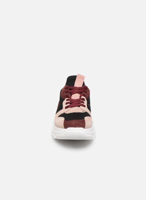 Baskets Bianco BIACANARY SUEDE SNEAKER 32-50285 Bordeaux vue portées chaussures