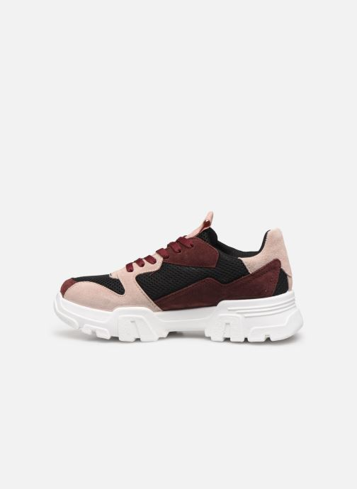 Trainers Bianco BIACANARY SUEDE SNEAKER 32-50285 Burgundy front view