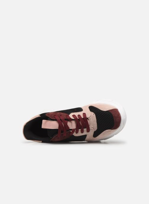 Trainers Bianco BIACANARY SUEDE SNEAKER 32-50285 Burgundy view from the left