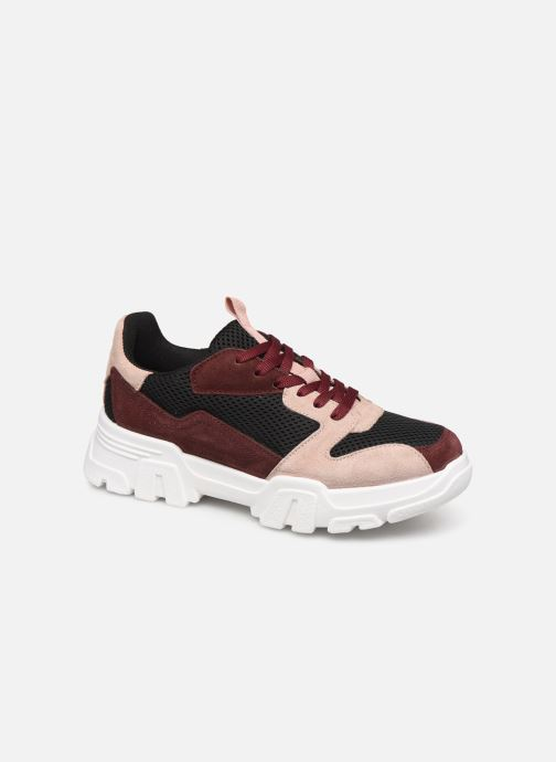 Trainers Bianco BIACANARY SUEDE SNEAKER 32-50285 Burgundy detailed view/ Pair view
