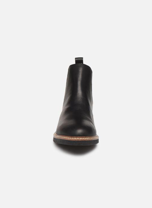 Bottines et boots Bianco BIAAGNES LEATHER CHELSEA 33-50014 Noir vue portées chaussures