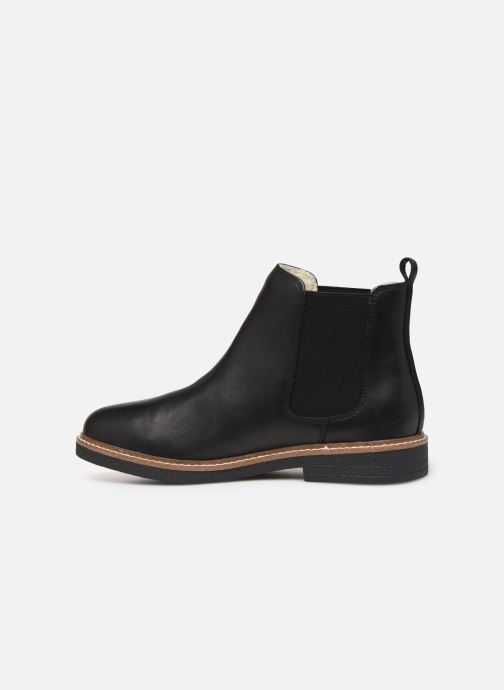 Ankle boots Bianco BIAAGNES LEATHER CHELSEA 33-50014 Black front view