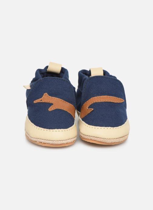 Chaussons Boumy Kai Bleu vue portées chaussures
