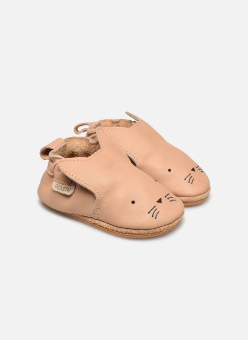 Hjemmesko Boumy Dune Beige detaljeret billede af skoene