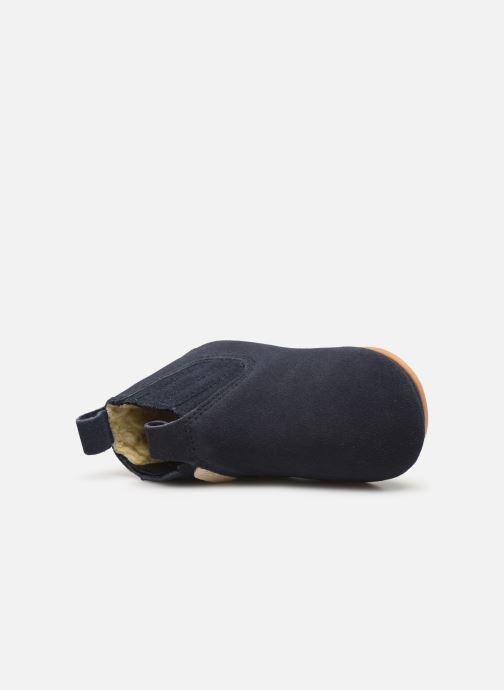 Pantofole Boumy Monzi Azzurro immagine sinistra