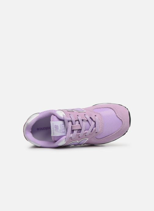 Baskets New Balance PC574 M Violet vue gauche