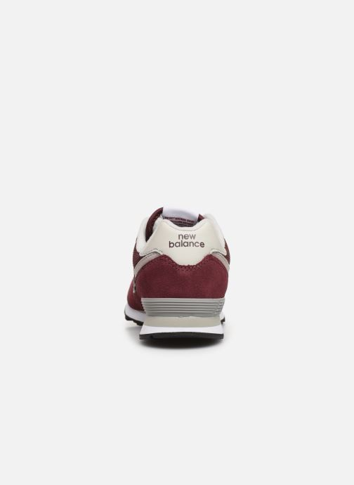 Trainers New Balance PC574 M Burgundy view from the right