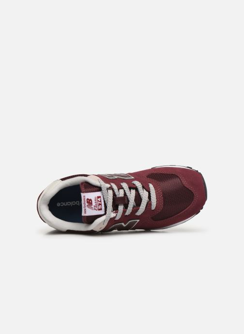 Trainers New Balance PC574 M Burgundy view from the left