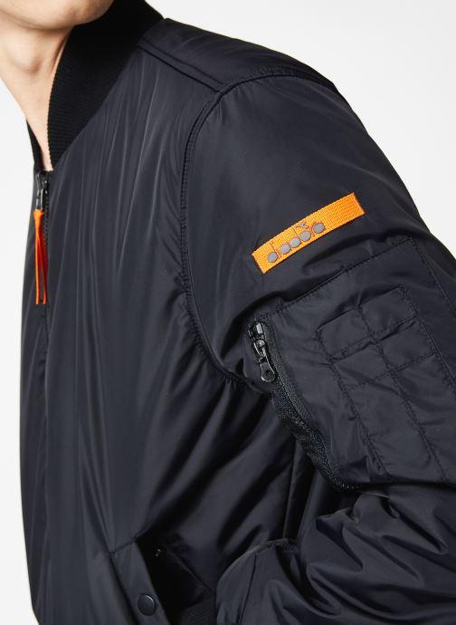 Tøj Diadora Bomber Jacket Insideout Sort se forfra