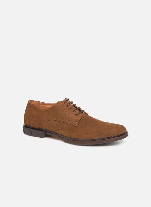 Chaussures à lacets Schmoove Bank Derby Suede Marron vue détail/paire