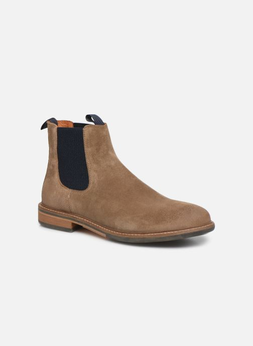 Ankle boots Schmoove Pilot Chelsea Suede Brown detailed view/ Pair view