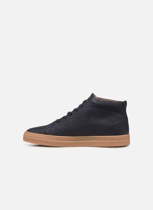 Sneakers Schmoove Spark Mid Nubuck Blå se forfra