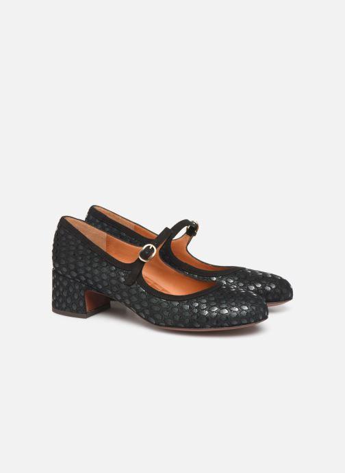 Zapatos de tacón Chie Mihara Urba Azul vista 3/4
