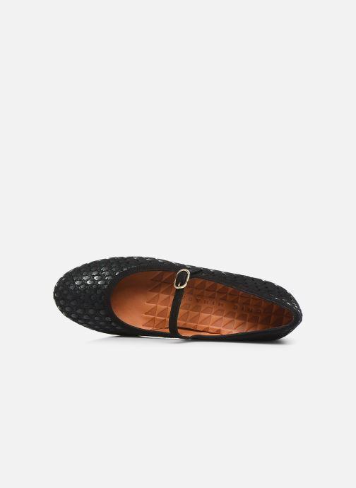 Zapatos de tacón Chie Mihara Urba Azul vista lateral izquierda
