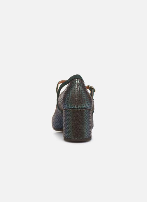 Zapatos de tacón Chie Mihara Popy Verde vista lateral derecha