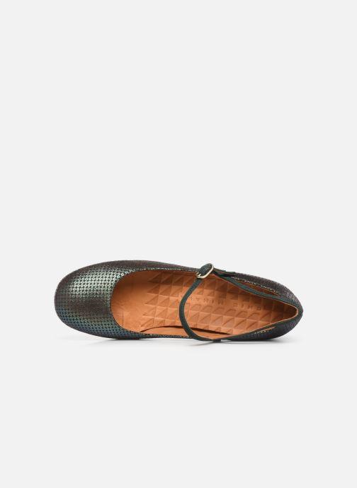 Zapatos de tacón Chie Mihara Popy Verde vista lateral izquierda