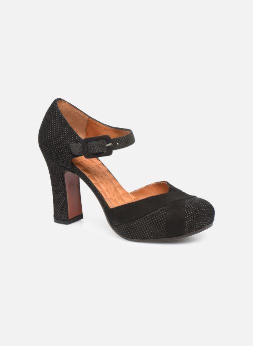 High heels Chie Mihara Dara Black detailed view/ Pair view
