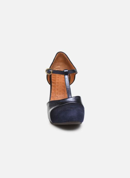 Escarpins Chie Mihara Darla Bleu vue portées chaussures