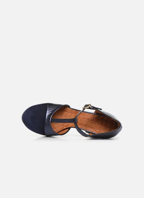 Zapatos de tacón Chie Mihara Darla Azul vista lateral izquierda