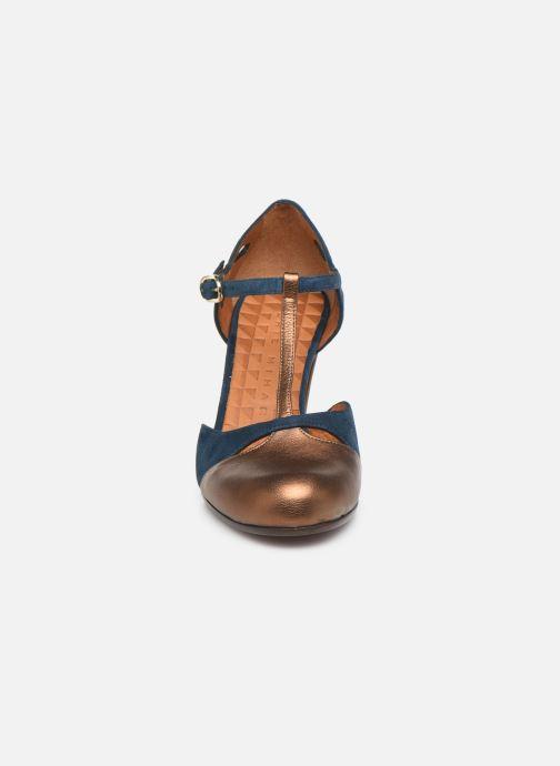 Escarpins Chie Mihara Kuna Or et bronze vue portées chaussures