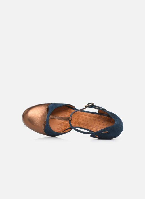 Zapatos de tacón Chie Mihara Kuna Oro y bronce vista lateral izquierda