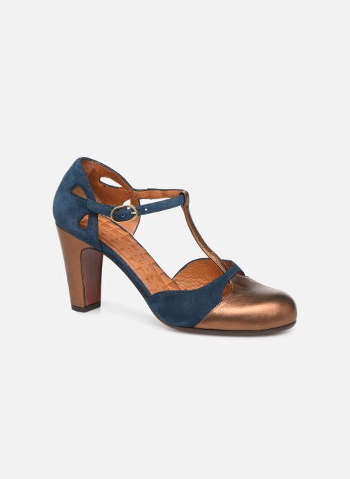 Høje hæle Chie Mihara Kuna Guld og bronze detaljeret billede af skoene