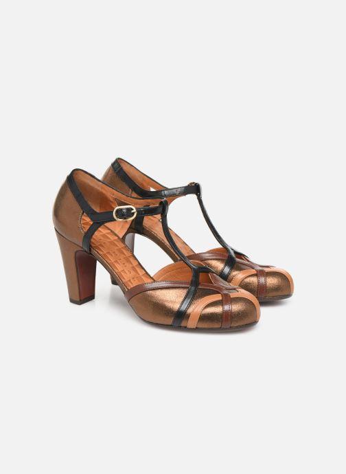 Zapatos de tacón Chie Mihara Korea Oro y bronce vista 3/4