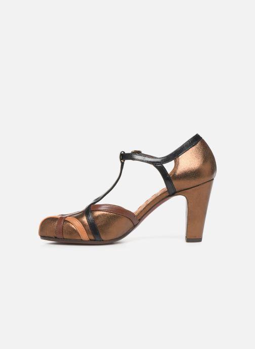Zapatos de tacón Chie Mihara Korea Oro y bronce vista de frente