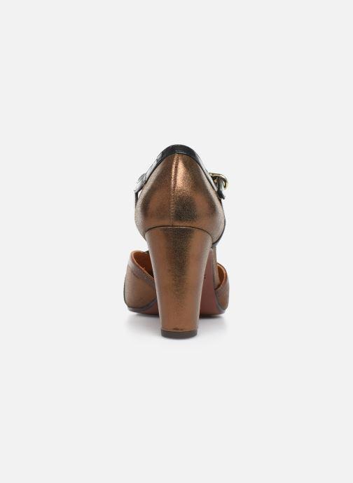Zapatos de tacón Chie Mihara Korea Oro y bronce vista lateral derecha