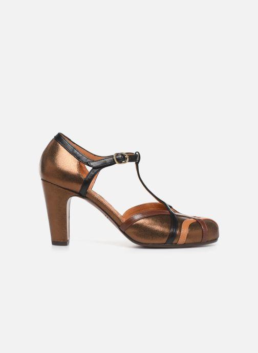 Zapatos de tacón Chie Mihara Korea Oro y bronce vistra trasera