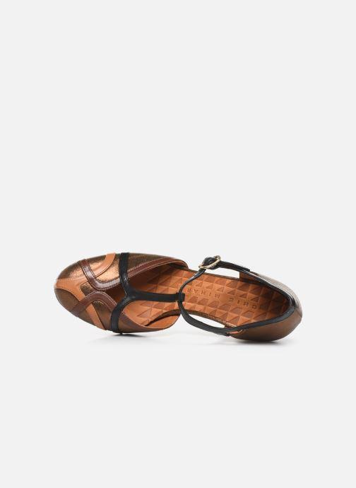 Zapatos de tacón Chie Mihara Korea Oro y bronce vista lateral izquierda