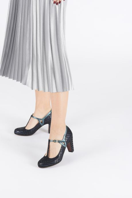 High heels Chie Mihara Krom Blue view from underneath / model view