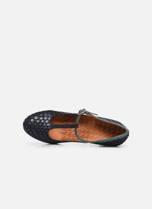 Zapatos de tacón Chie Mihara Krom Azul vista lateral izquierda